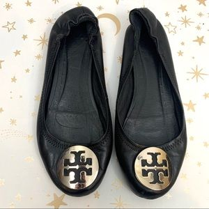 Tory Burch | Reva Flats Black and Silver Shoe